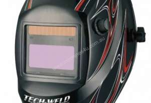 Tech-Weld Welding Helmet-SPARK-RED
