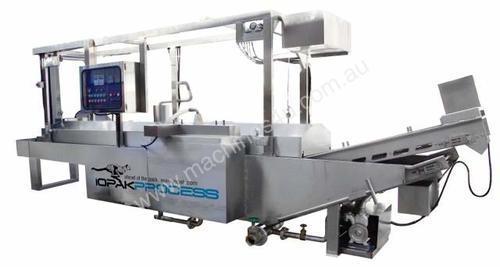 Fully Automatic Continuous Fryer with hold-down be