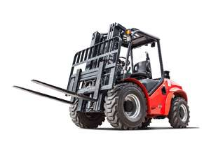 Rent to own 3.5T 4WD Rough Terrain Forklift, 4.0m 3 stage container mast, side shift, 5yr warranty