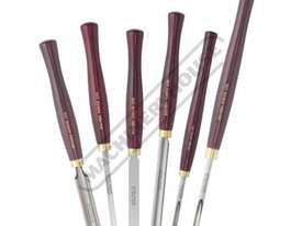 RPCHS6-SS HSS Spindle and Bowl Wood Turning Tools - 6 Piece Set  Essential Chisel Set - picture2' - Click to enlarge