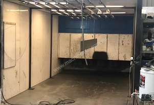 Powdercoat batch oven and booth