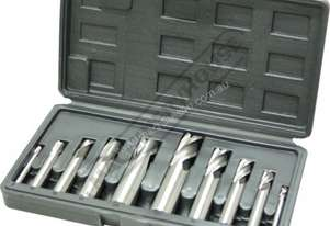M3301 Metric HSS Slot Drill & End Mill Set - 10 Piece Ø6 - Ø20mm
