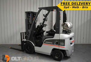 Second Hand Nissan P1F1A18DU 1.8 tonne LPG used forklift Sydney - FREE DELIVERY OFFER