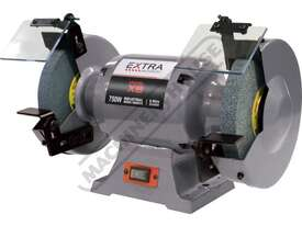 X8 Industrial Bench Grinder Ø200mm Fine & Coarse Wheels 0.75kW - 1HP Motor Power - picture0' - Click to enlarge