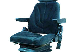 Seat with Headrest and Arm Rests with 12V Pneumatic Suspension Cloth