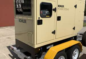 Trailer Mount KOHLER KD66IV Diesel Generator | Rollmaxx Aluminium Trailer |Total Wet Weight 2050KG|