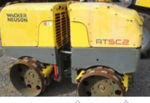 2012 Double Drum Wacker Neuson Trench Roller for sale, 655 Hrs, Central West NSW