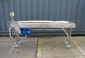 STAINLESS STEEL Motorised Belt Conveyor - 1.7m long