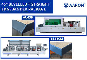 45° Bevelled and Straight Edgebander Package | Affordable, fast, efficient | Aaron AU45D + EB61CM