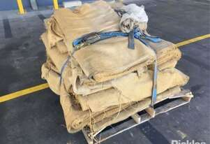 Pallet With Large Quantity Of Hessian