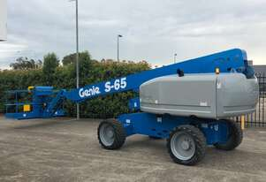 Genie S65 - 65ft Telescopic Boom Lift with On Board 240V Generator - Compliant Until 11/2025