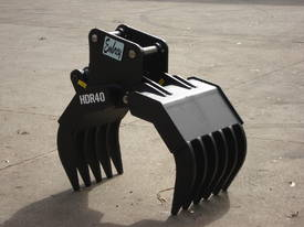 HDR40 Hydraulic Rake Grapple - Suits 4-6 Tonne Exc - picture2' - Click to enlarge