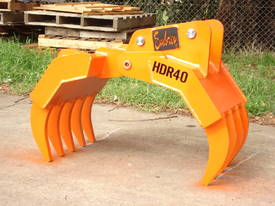 HDR40 Hydraulic Rake Grapple - Suits 4-6 Tonne Exc - picture3' - Click to enlarge