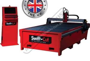 SwiftCut 1250W CNC Plasma Cutting Table Water Tray System, Hypertherm Powermax 45XP Cuts up to 12mm