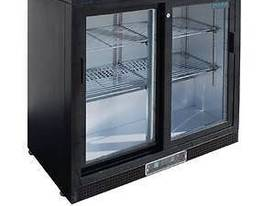 Polar CF759-A - Bar Display Cooler Black Double Sliding Doors - picture0' - Click to enlarge