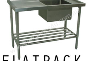 Alphaline XS1-70180R Stainless Steel Sink Bench 1800 x 700 Right Bowl