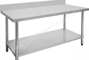F.E.D. 2100-6-WBB Economic 304 Grade Stainless Steel Table with splashback 2100x600x900
