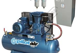 K25/21 Industrial Air Compressor & Refrigerated Air Dryer Package Deal 150 Litre / 5.5hp 20.5cfm Dis
