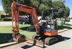 HITACHI ZX27U-2 ZERO TAIL SWING 2.5T MINI EXCAVATO