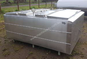 STAINLESS STEEL TANK, MILK VAT 2650 LT