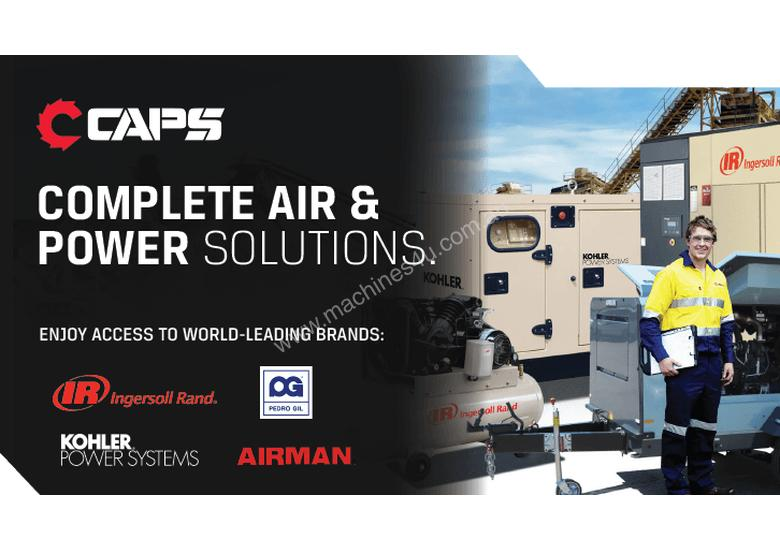 CAPS Brumby CR15-10-500 69cfm 10bar 15kW Rotary Screw Air Compressor with 500L Receiver Tank