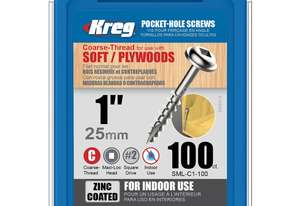 Kreg Pocket Screws 1 Coarse - 100pc