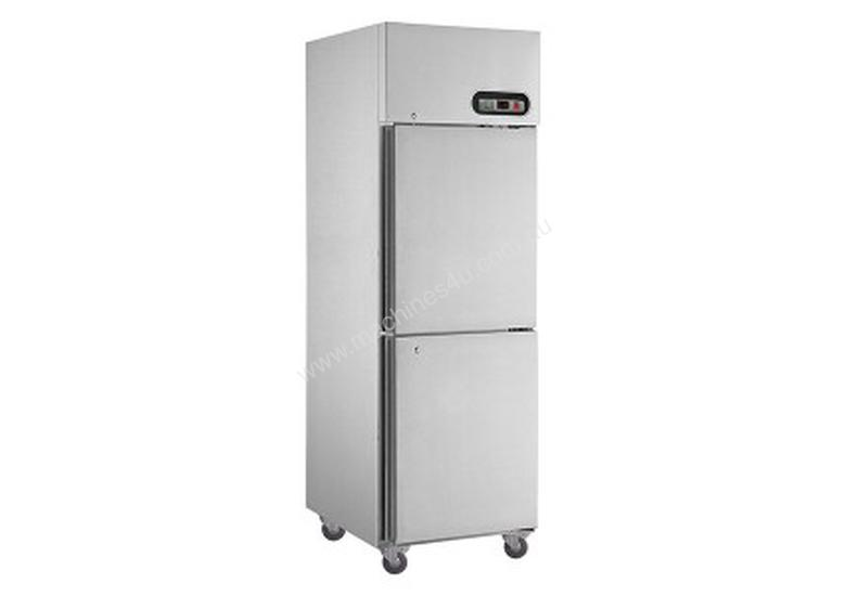F.E.D Stainless Steel Upright Fridges with Split Doors