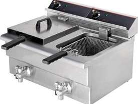 F.E.D BEF-172V 15 Amp Double Benchtop Electric Fry - picture0' - Click to enlarge