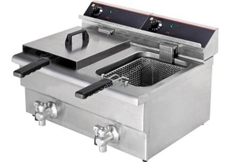 F.E.D BEF-172V 15 Amp Double Benchtop Electric Fry