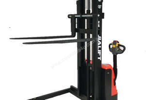 1T Straddle Leg Electric Walkie Stacker Lift Height 3000mm