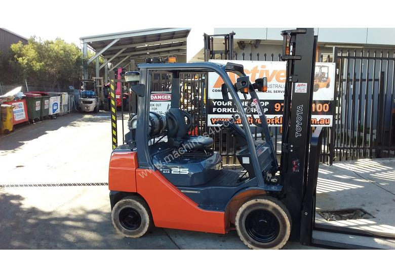 Toyota Forklift 8FG25 2.5 Ton 3.7m Lift Refurbished Excellent Condition