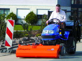 Simplex Road Sweeping Broom for SkidSteers and Front End Loaders - picture0' - Click to enlarge