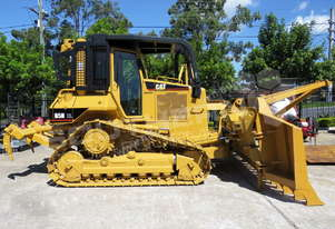 Caterpillar D5N XL Bulldozer w Stick Rake Tree Spear DOZCATM