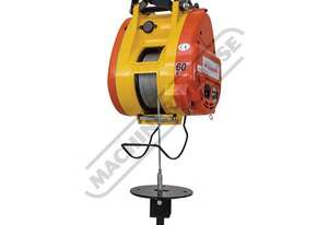 TBH360 Compact Wire Rope Hoist 360kg Lifting Capacity 60 Metre Lifting Height