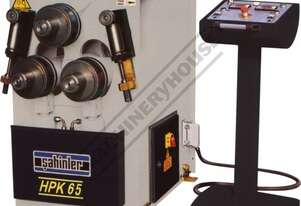 HPK-65 Section & Pipe Rolling Machine 60 x 60 x 6mm Angle Capacity Includes Digital Readout Display