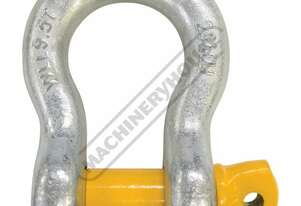 GSSB29 9.5T Bow Shackle Galvanised Finish With Yellow Pin