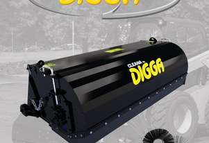 Digga Cleana 1600mm Bucket Broom Standard Flow 80% Poly 20% Wire Brush