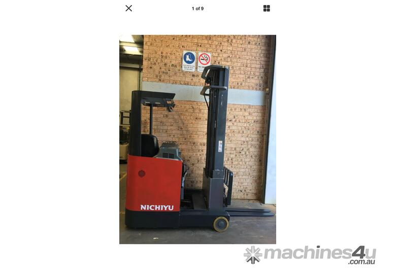 2013 Roll Out Nichiyu Reach Truck 1.4ton 6.3m side Shift 1000hr Great Battery !
