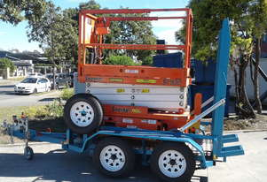 Snorkel Scissor Lift and Trailer