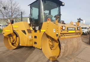 USED CATERPILLAR CB534D TANDEM ROLLER WITH CAB ABD 282 HOURS