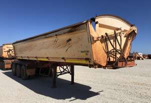 2010 ROAD WEST TRANSPORT EQUIPMENT RWT TRI350 SIDE TIPPER TRAILER