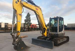 UNUSED WACKER NEUSON EZ80 8T EXCAVATOR WITH FULL CAB, HITCH AND BUCKETS