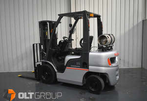 Nissan PL02A25JU 2.5 Tonne Forklift 4.3m Container Mast with Sideshift Solid Tyres