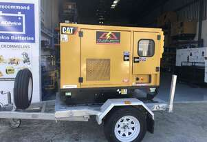 Caterpillar 22kva Generator 3 phase & Single Phase with Trailer Package