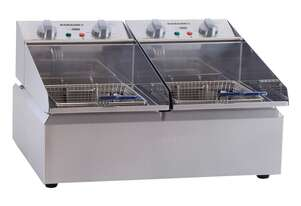Roband FR25 Countertop Double Pan Fryer 2x5L