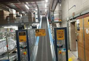 Motorised Mezzanine Roller Belt Conveyor Box Elevator High Stainless sides