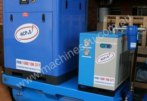 German Rotary Screw  - 20hp / 15kW Rotary Air Compressor with Tank, Dryer and Oil Removal Filters