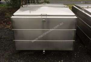 1,750lt Jacketed Stainless Steel Tank