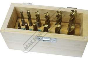 M335 Imperial HSS Slot Drill & End Mill Set - 12 Piece Ø3/16