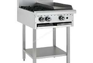 LUUS Cooktop Range - 2 Burners 300 BBQ and Shelf